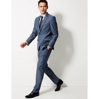 MandS Collection Blue Textured Tailored Fit Jacket