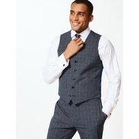 M&S Collection Checked Slim Fit Waistcoat