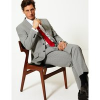 MandS Collection Grey Checked Regular Fit Jacket