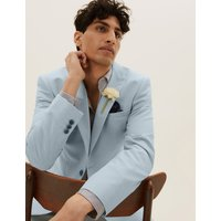 MandS Collection Pastel Slim Fit Jacket with Stretch