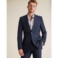 MandS Collection The Ultimate Big and Tall Navy Slim Fit Jacket