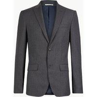Savile Row Inspired Textured Slim Fit Wool Jacket