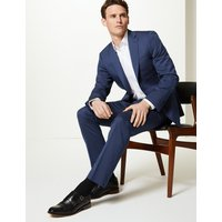 MandS Collection Luxury Navy Striped Tailored Fit Wool Jacket