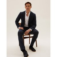 MandS Collection Luxury Navy Slim Fit Wool Jacket