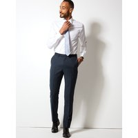 M&S Collection Luxury Textured Tailored Fit Wool Trousers