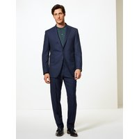David Gandy for Savile Row Inspired Blue Textured Tailored Fit Wool Jacket