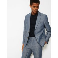 MandS Collection Slim Fit Linen Miracle Jacket