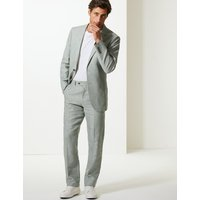 M&S Collection Tailored Fit Linen Trousers