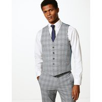 Limited Edition Grey Checked Skinny Fit Waistcoat