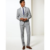 Limited Edition Grey Checked Skinny Fit Jacket