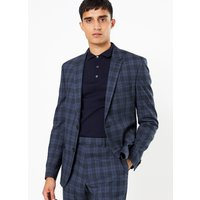 Limited Edition Blue Checked Skinny Fit Jacket
