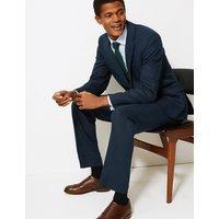 M&S Collection Textured Regular Fit Linen Jacket