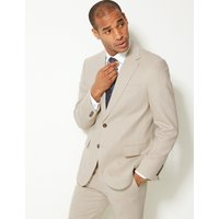 MandS Collection Textured Regular Fit Linen Jacket