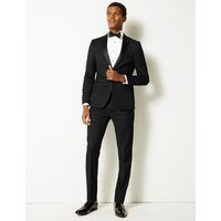 Limited Edition Black Textured Skinny Fit Jacket