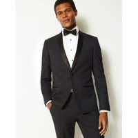 MandS Collection Navy Textured Slim Fit Jacket