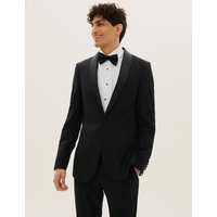 MandS Collection Black Textured Slim Fit Jacket
