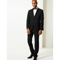 MandS Collection Luxury Black Regular Fit Wool Dinner Jacket