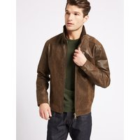 M&S Collection Leather Biker Jacket