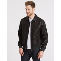 M&S Collection Leather Flying Jacket