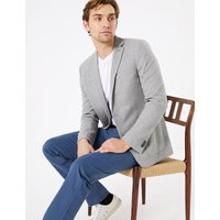 M&S Collection Slim Fit Textured Jacket with Stretch