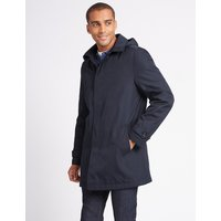 M&S Collection Hooded Mac with Stormwear