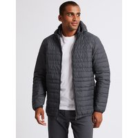 M&S Collection Hooded Down & Feather Jacket