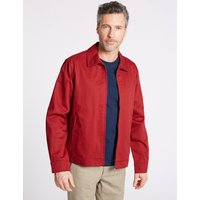 Blue Harbour Pure Cotton Harrington Jacket with Stormwear