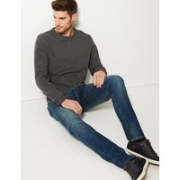 M&S Collection Vintage Wash Tapered Fit Jeans