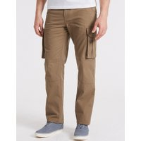 M&S Collection Pure Cotton Cargo Trousers