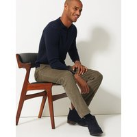 M&S Collection Slim Fit Pure Cotton Corduroy Trousers