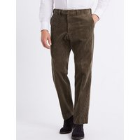 M&S Collection Luxury Tailored Fit Cotton Rich Corduroy Trousers