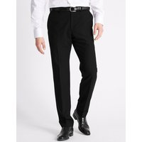 M&S Collection Slim Fit Flat Front Trousers