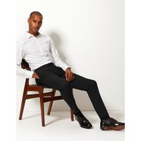 M&S Collection Skinny Fit Flat Front Trousers