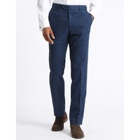 M&S Collection Linen Miracle Flat Front Trousers
