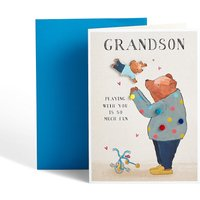 Cute Bears Grandson Birthday Card