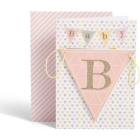 New Baby Girl Bunting Card