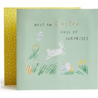 Easter Card with Easter Egg Hunt Game