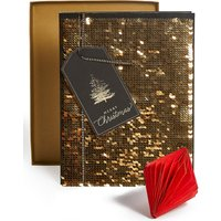 Merry Christmas Reversible Sequins Christmas Charity Card