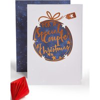 Special Couple Bauble Christmas Charity Card