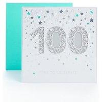 M&S 100th Birthday Card - 1SIZE