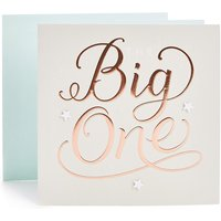 The Big One Birthday Card