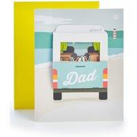 Dad 3D Camper Van Birthday Card