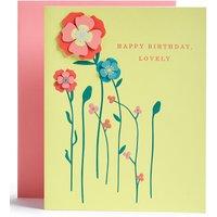 Floral Contemporary Birthday Card