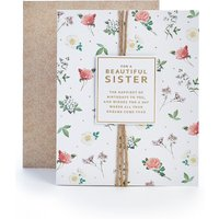 Sister Floral Birthday Card