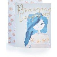 Daughter Watercolour Cake Birthday Card