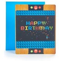 M&S Pop-up Lenticular Arcade Game Birthday Card - 1SIZE