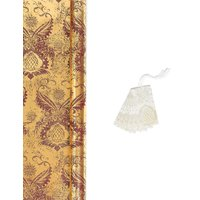 Patterned Wrap & Tag Pack - 3m Wrap, 6 Tags.