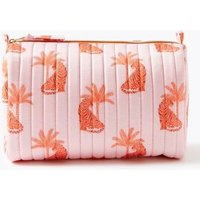 M&S Womens Tiger Print Make-Up Wash Bag - 1SIZE - Pink Mix, Pink Mix