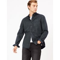 MandS Collection Pure Cotton Authentic Denim Shirt