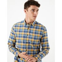 MandS Collection Pure Cotton Checked Shirt